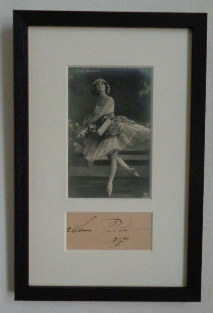 Antique Russian Imperial Ballets Russes Dancer Signature Postcard Anna Pavlova